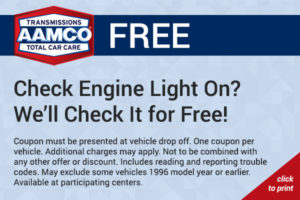 free check engine light check coupon